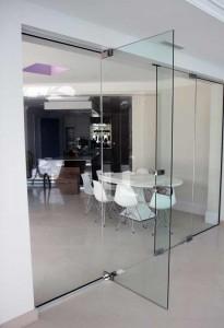 Glass Door Room Divider